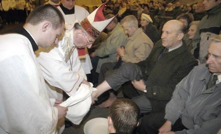 Msza św. Wieczerzy Pańskiej - obmycie nóg.