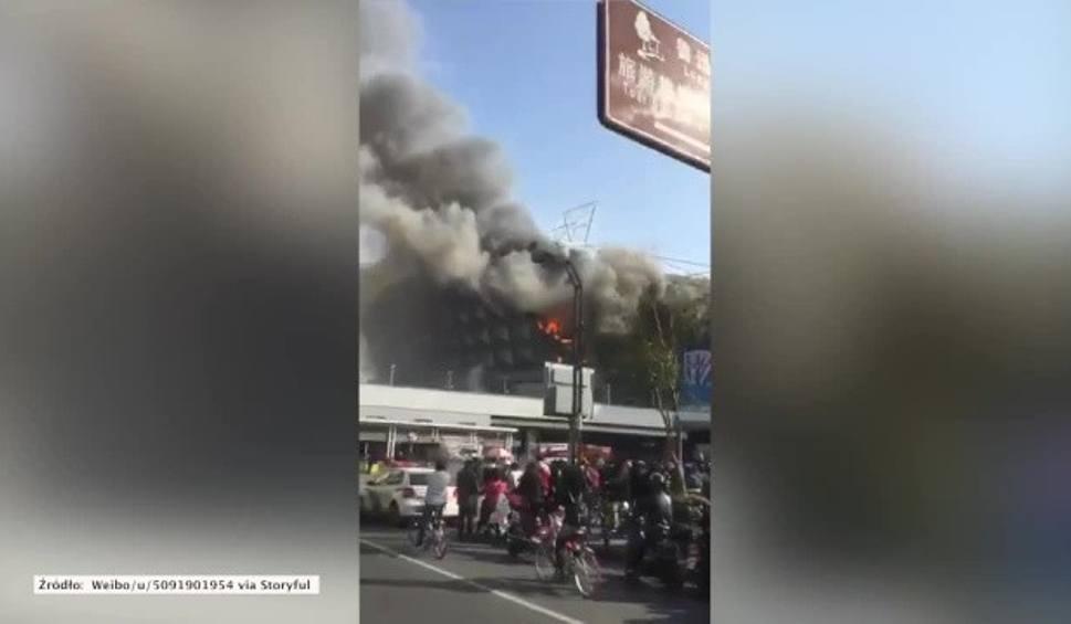 Film do artykułu: Pożar stadionu w Szanghaju. Kibice martwią się o mecze ulubionych drużyn