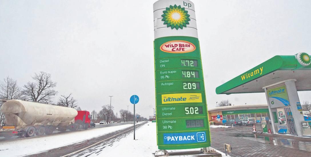 Czwartkowe ceny na stacji BP w Koszalinie. Paliwa podrożały wszędzie, te z grupy premium, wysokooktanowe, już kosztują powyżej 5 zł  za litr