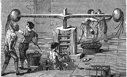 Stosowana w późnym średniowieczu i później metoda bicia monety. Potężne ramiona machiny pozwalały wytworzyć znaczną siłę niezbędną do precyzyjnego odbicia