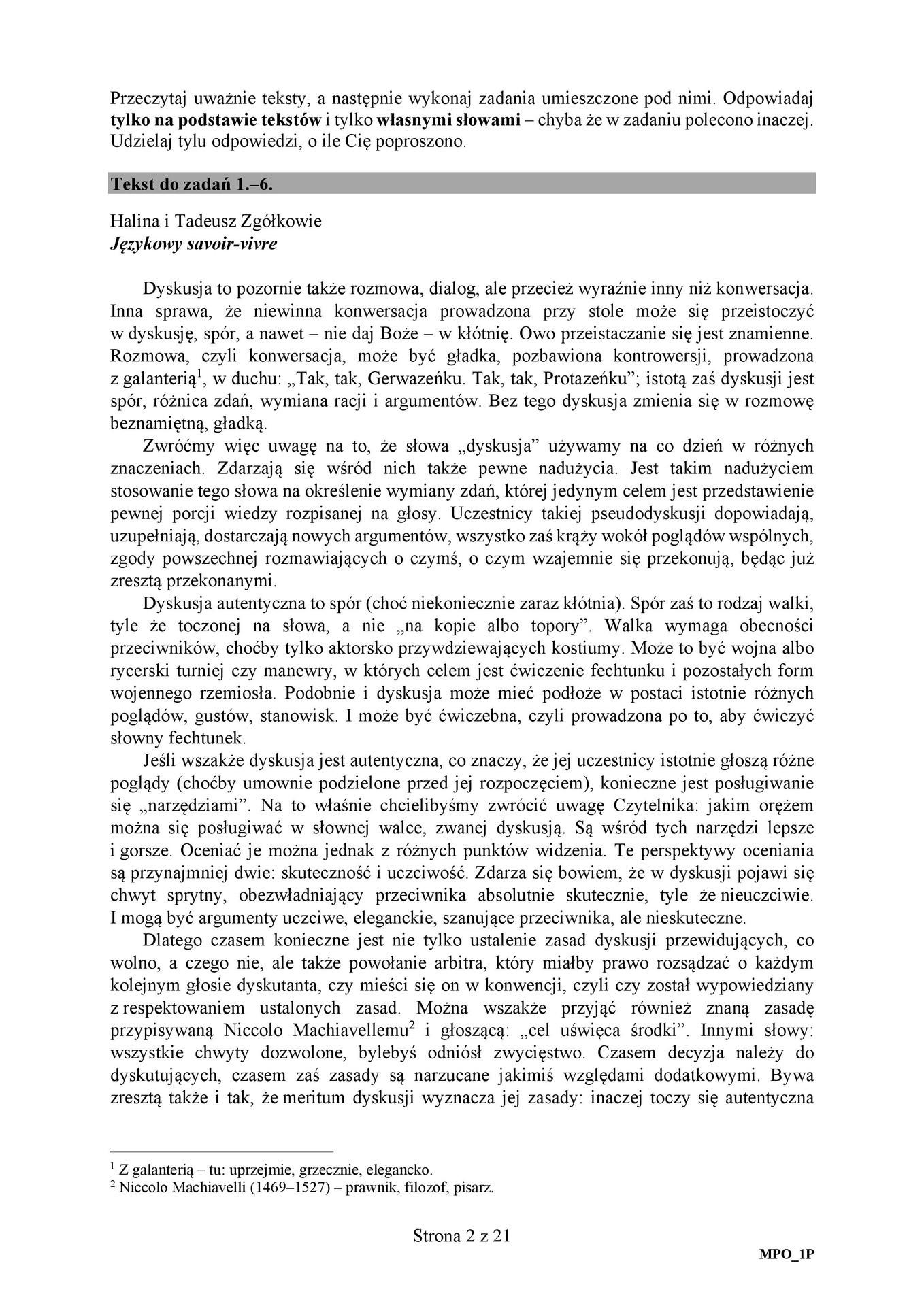matura pisemna polski 2010