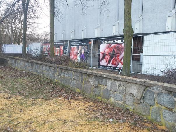 W niedzielę przed kościołem poznańskiej parafii pw. Świętego Krzyża pojawiły się antyaborcyjne plakaty fundacji PRO Prawo do Życia. Wisiały nieco ponad