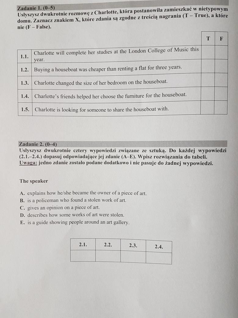 matura próbna matematyka pytania