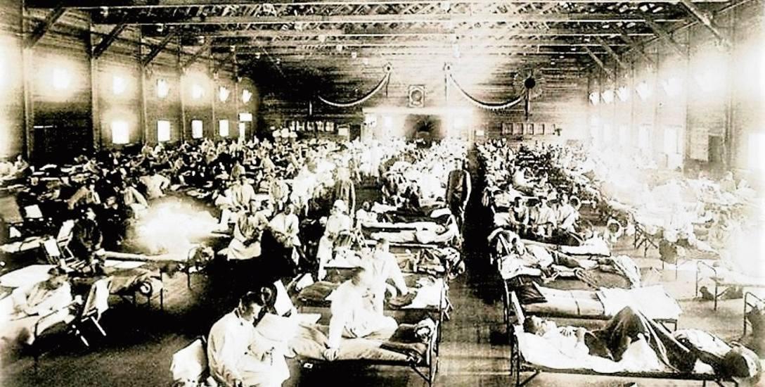 Tak wyglądały przepełnione lazarety wojskowe w czasie największego nasilenia epidemii hiszpanki w 1918 r.