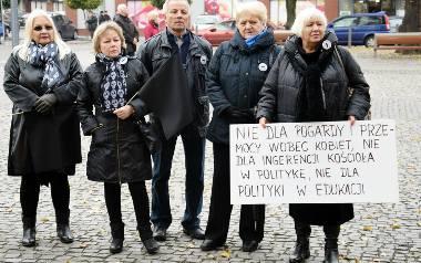 Czarny protest w Stargardzie. Kobiety dobitnie wyraziły swoje zdanie
