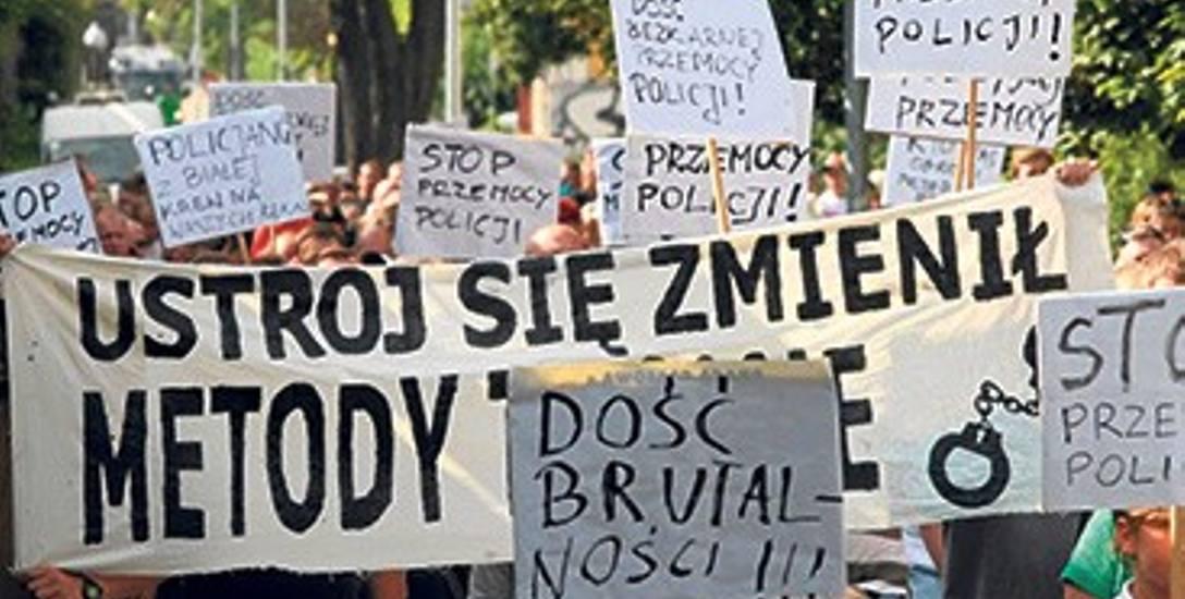 Po śmierci Pawła Tomasika przez Wrzeszcz przeszła demonstracja przeciw brutalności policji