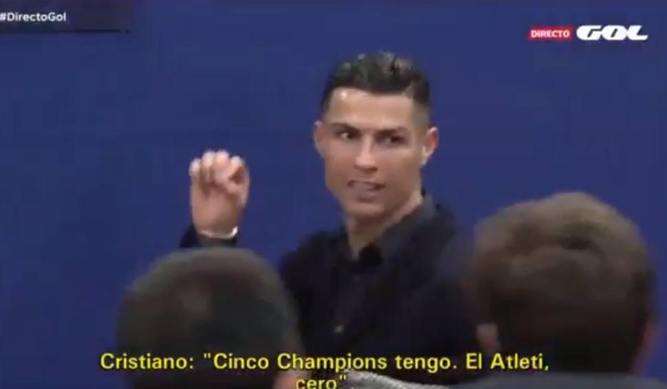 """Film do artykułu: Cristiano Ronaldo jak Jose Mourinho? """"Wygrałem Ligę Mistrzów pięć razy, Atletico zero"""""""