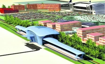 Tak ma w przyszłości wyglądać dworzec w Pyrzowicach. Na razie plany jego budowy trzeba znowu odłożyć w czasie