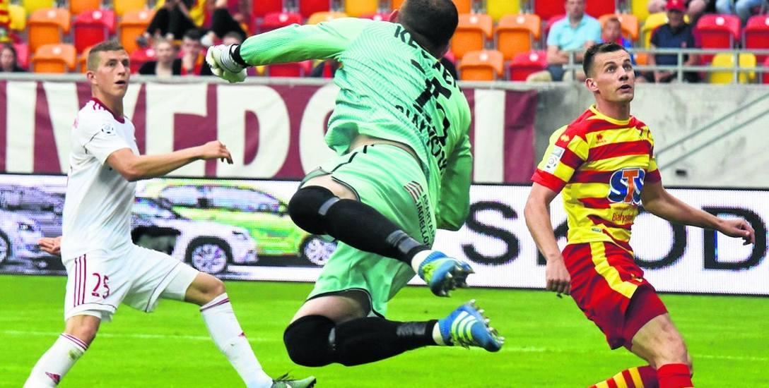 Marian Kelemen uratował Jagiellonię przed stratą gola w kilku sytuacjach