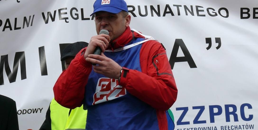 """Adam Olejnik, szef MZZ """"Odkrywka"""" w kopalni zapowiada, że związki będą walczyły o przywrócenie zwolnionych osób do pracy"""