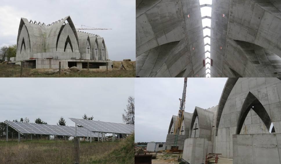 Film do artykułu: Mierzyn. Powstaje nowy kościół. Słońce zagląda tu przez dach [ZDJĘCIA, FILM]