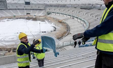 Trwa montaż siedzisk na Stadionie Śląskim