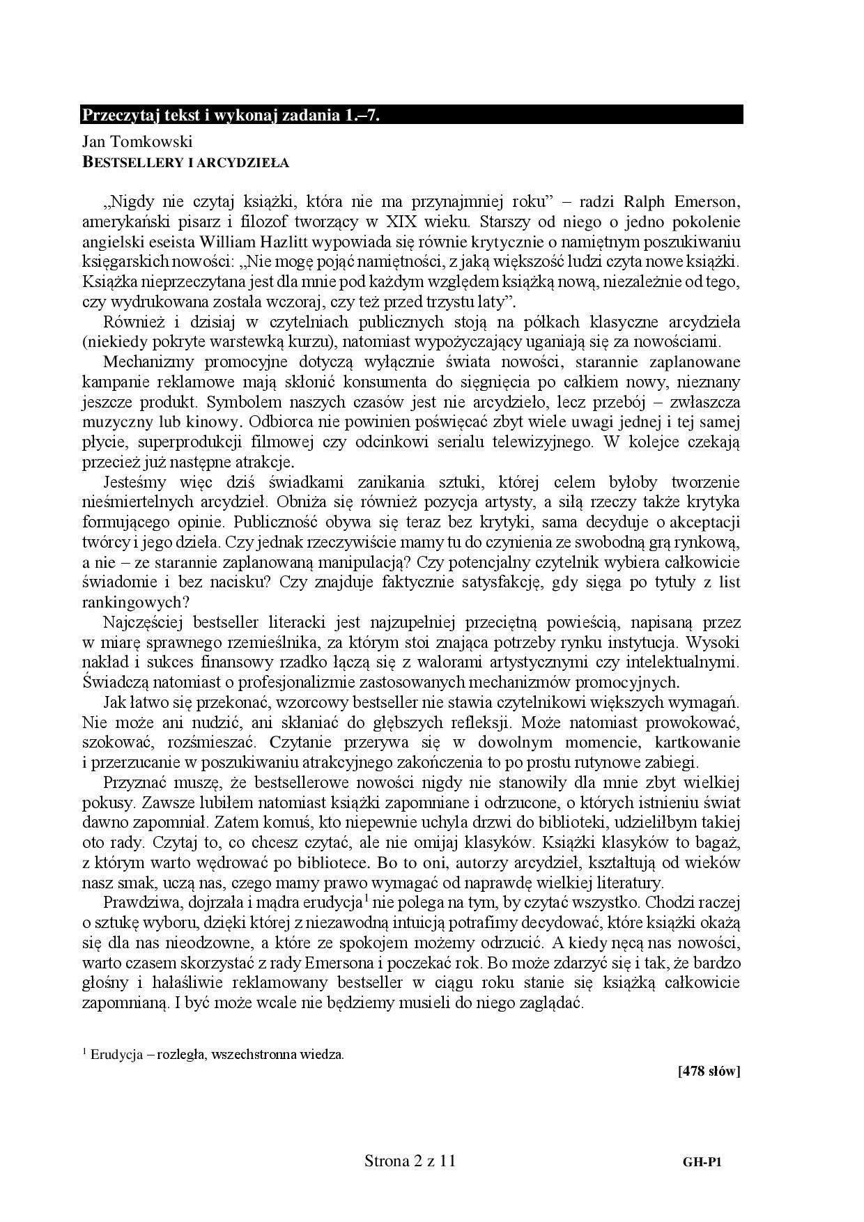 egzamin gimnazjalny 2017  j u0118zyk polski  odpowiedzi  arkusze cke