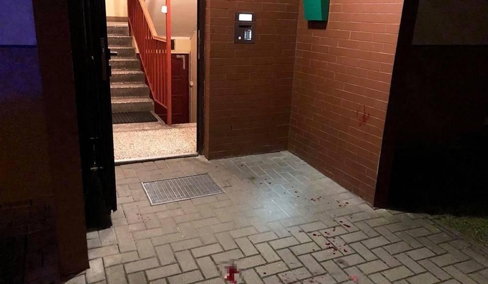 Film do artykułu: Zakrwawiona klatka schodowa. Na chodniku sztuczna szczęka. Na nogi postawiona zielonogórska policja i strażacy [ZDJĘCIA]