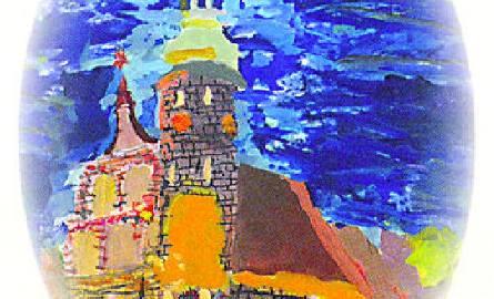 Kościół Klarysek namalowała 11-letnia Daria Mańczak.