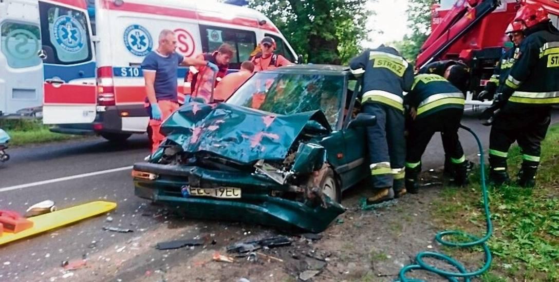 Hondą w fiata  - 3 osoby ranne