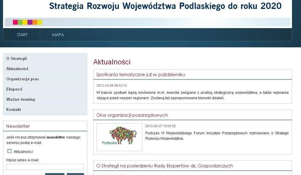 Podlaskie Portal O Strategii Gospodarczej Regionu