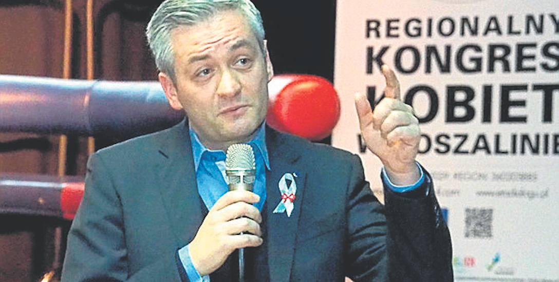 Gwiazdą - tak to trzeba nazwać - sobotniego Kongresu Kobiet w Koszalinie, był prezydent Słupska Robert Biedroń
