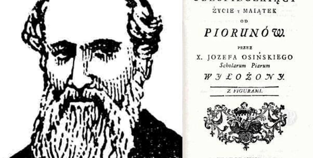 Jedyna znana podobizna ks. Józefa Hermana Osińskiego (1738-1802). Jego prekursorska książka z elektrotechniki ukazała się w 1784 roku, czyli wtedy, gdy