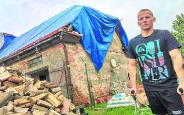 Dom Frelków został tymczasowo zabezpieczony. Odbudowa całego gospodarstwa będzie kosztowała około 300 tys. zł. Gmina Gostycyn była jedną z tych, które