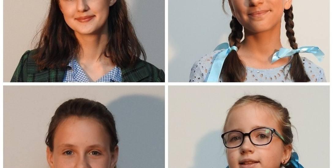 U góry od lewej: Milena i Sara.  A na dole: Wiktoria i Zuzanna