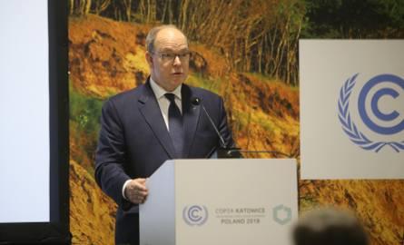 Książę Monako Albert II na szczycie klimatycznym ONZ w Katowicach