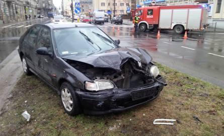 Wypadek na Wólczańskiej w Łodzi