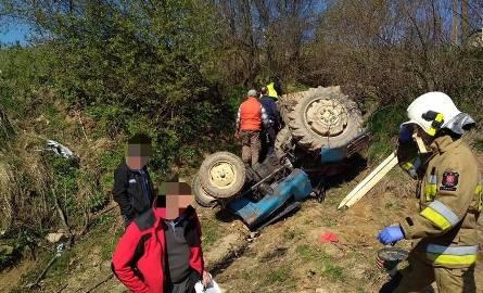 Kwietniowy wypadek w małopolskiej wsi Trzebunia. Zginął przygnieciony przez ciągnik rolnik