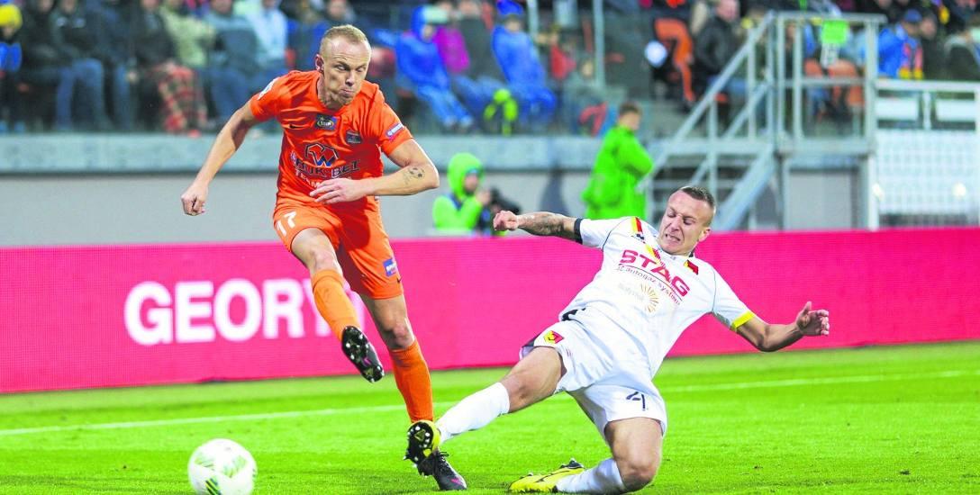 Jagiellonia w wielkich nerwach wygrała mecz w Niecieczy 2:1
