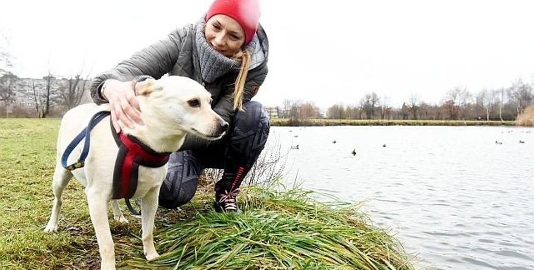 - Zagospodarowanie tego terenu to dobry pomysł - mówi Maja Chodorowska z psem Zuzią