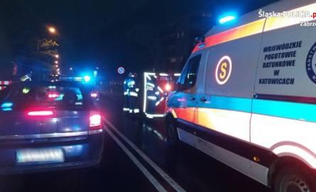 Śmiertelny wypadek w Zabrzu na ul. Franciszkańskiej ZDJĘCIA Kierowca mercedesa potrącił pieszego