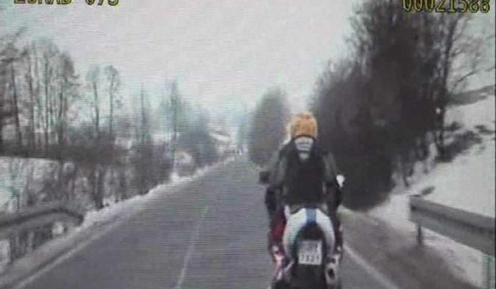 Film do artykułu: Wypił alkohol i kupionym motocyklem chciał wracać do domu. Zatrzymali go policjanci