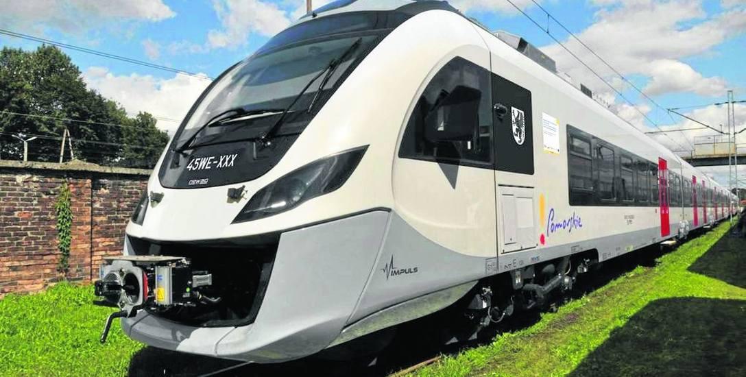 Pociąg Impuls w barwach województwa pomorskiego. Takie składy będą niebawem kursować ze Słupska przez Trójmiasto do Elbląga