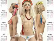 """Działaczki """"Femen"""" znów nago. Tym razem na kartach kalendarza (GALERIA)"""