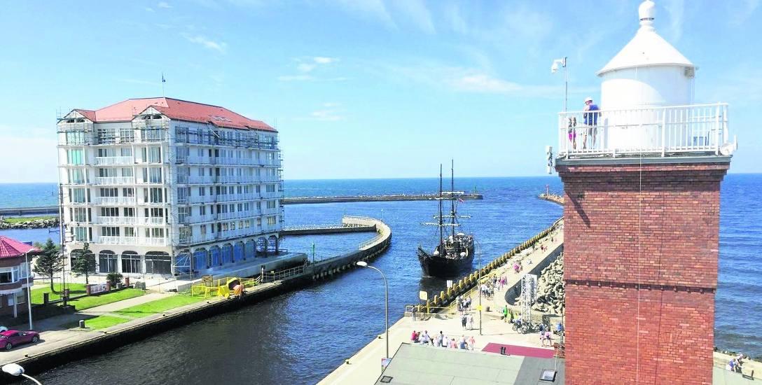 Do tej pory powstał jeden z trzech planowanych budynków Marina Royale w Darłówku