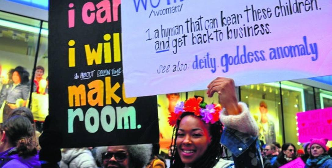 Demonstracja kobiet w Nowym Jorku