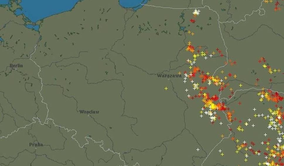 Mapa Burzowa Gdzie Jest Burza Gdzie Sa Burze W Polsce Mapa