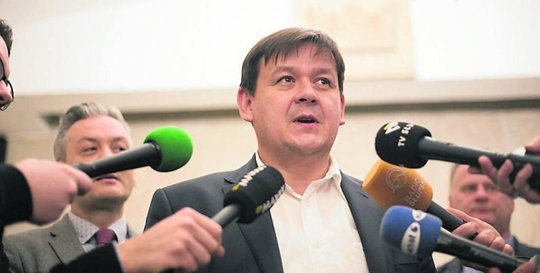 Andrzej Wójtowicz, prezes spółki Wodociągi Słupsk, dziękuje swojemu zespołowi za bardzo dobrze przygotowany wniosek
