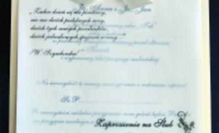Zaproszenia ślubne Dają Przedsmak Oprawy Uroczystości Nowiny24pl