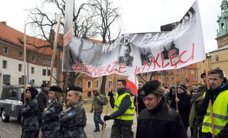 """Kraków. Patriotyczne obchody ku pamięci """"Żołnierzy Wyklętych"""""""