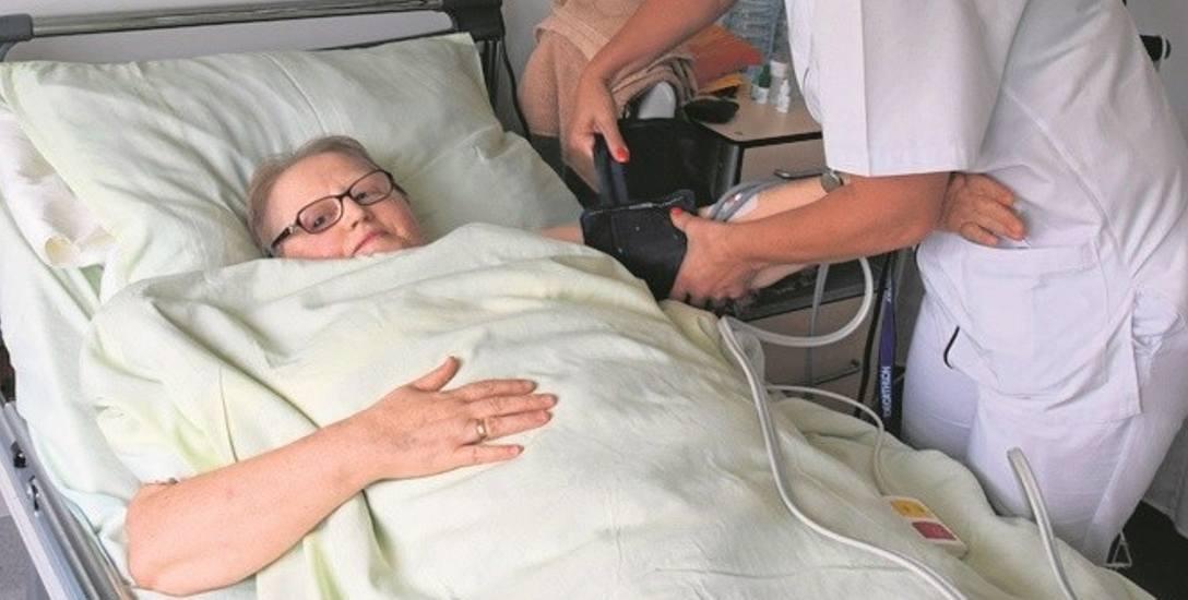 Maria Oleksy tryskała humorem i chwaliła szpital św. Łukasza za opiekę. Wcześniej wszczepiono jej w Tarnowie rozrusznik