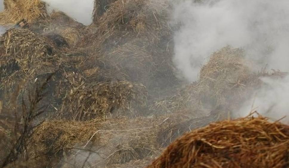 Film do artykułu: Strażacy przez osiem godzin gasili słomę na polu