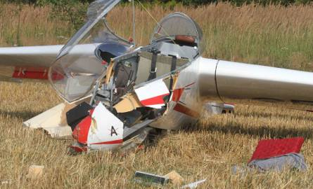 Katastrofa szybowca w Masłowie! Spadł podczas podchodzenia do lądowania
