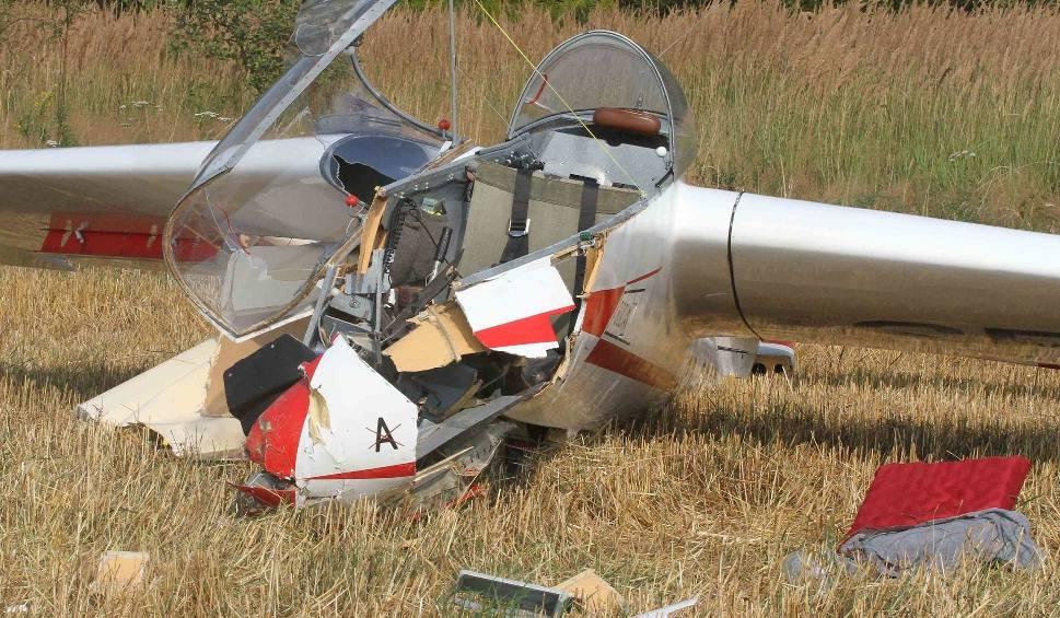 Film do artykułu: Katastrofa szybowca w Masłowie! Spadł podczas podchodzenia do lądowania