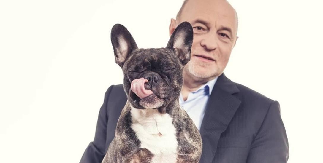 Bogusław Sonik i jego pies Paris