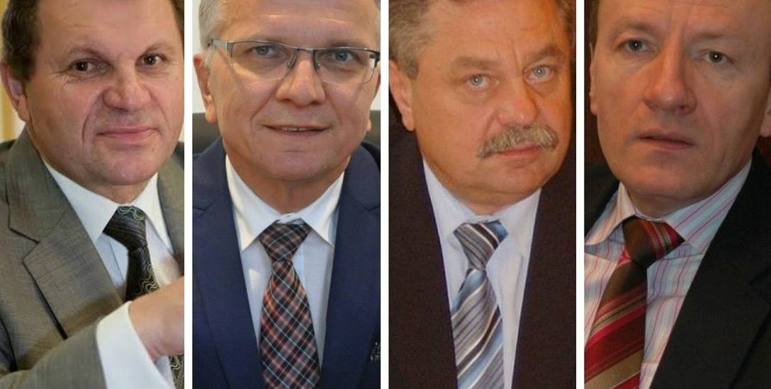 Od lewej: Joachim Wojtala, burmistrz Gogolina; Jarosław Kielar, burmistrz Kluczborka; Tadeusz Kauch, burmistrz Ujazdu; Sylwester Lewicki, burmistrz