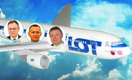 Od lewej:Arkadiusz Mularczyk, leciał 133 razy, Józef Leśniak, ma na koncie 146 lotów i rekordzista - Wiesław Janczyk, który leciał 201 razy