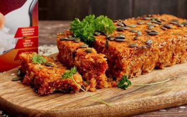 Pasztet z pieczonych warzyw i ryżu.