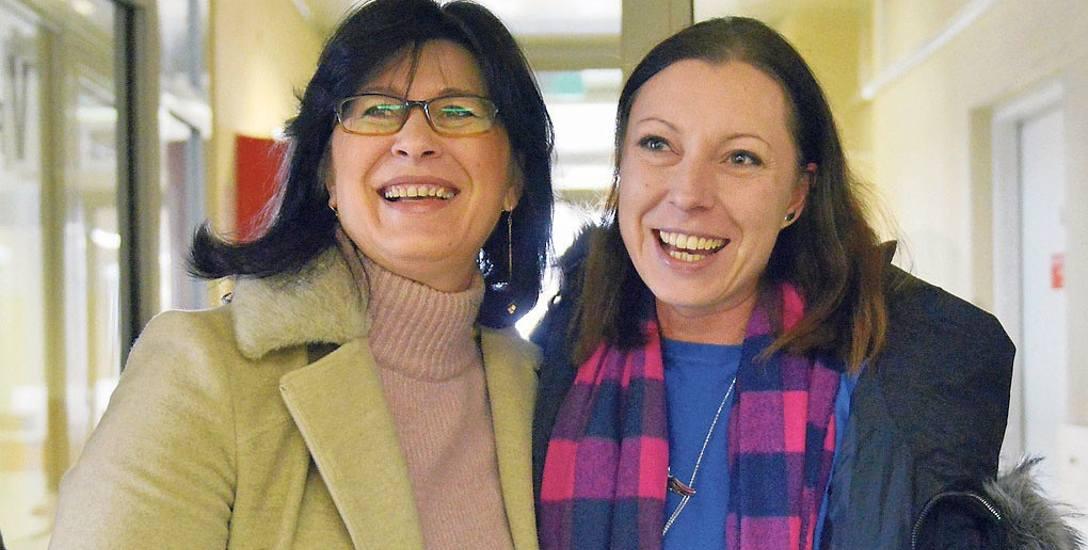 Formalnie Mirosława Sagun-Lewandowska (z lewej) radną jeszcze nie jest. Będzie po uprawomocnieniu się postanowienia komisarza wyborczego. Obok Katarzyna
