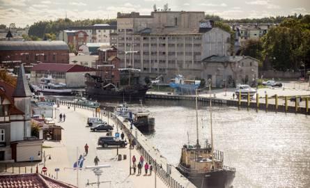 Fragment portu w Ustce.